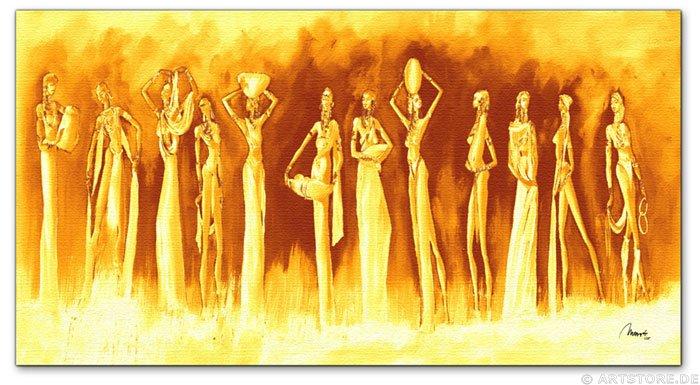 Wandbild Mia Morro GOLDEN MASSAI