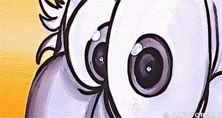 Wandbild Mia Morro CRAZY BIRDY Detailausschnitt