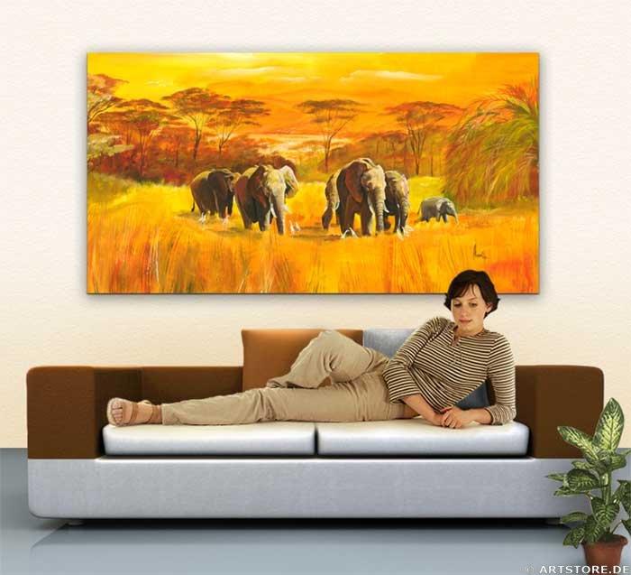 Wandbild Mia Morro AFRICAN WILDLIFE Wohnbeispiel