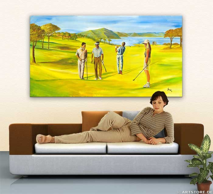Wandbild Mia Morro GOLF SPORT Wohnbeispiel