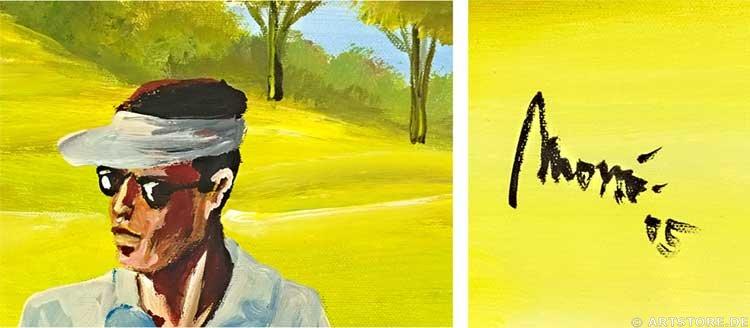 Wandbild Mia Morro GOLF SPORT Detailausschnitt