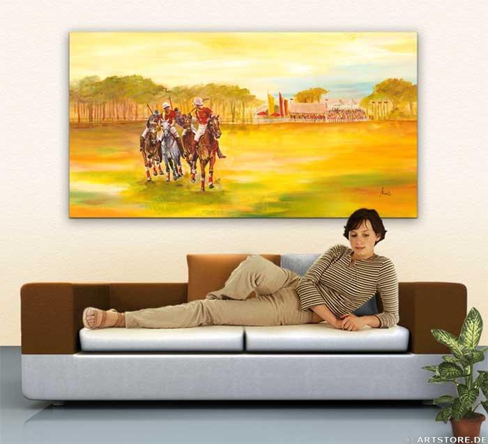 Wandbild Mia Morro POLO SPORT Wohnbeispiel