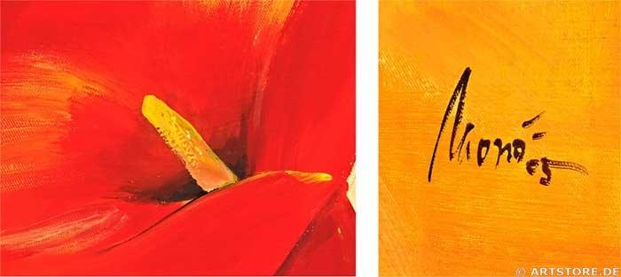 Wandbild Mia Morro RED LILIES Detailausschnitt