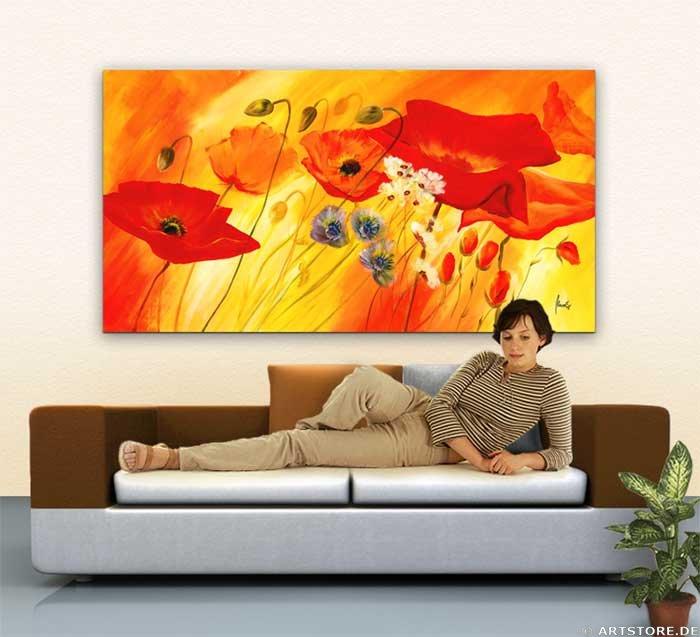 Wandbild Mia Morro FRESH FLOWERS Wohnbeispiel