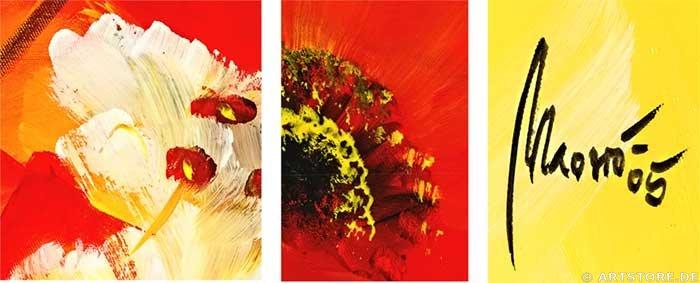 Wandbild Mia Morro FRESH FLOWERS Detailausschnitt