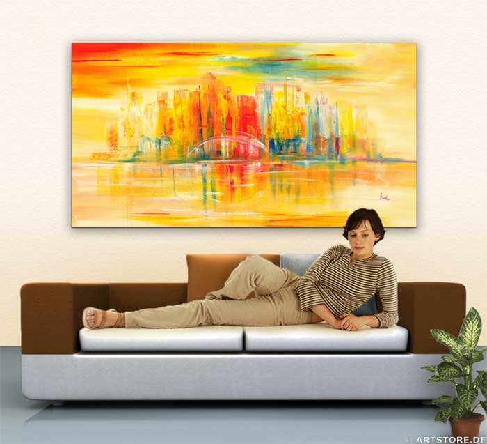 Wandbild Mia Morro NEW YORK SKYLINE USA Wohnbeispiel
