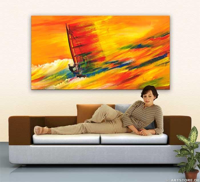 Wandbild Mia Morro WIND SURFING Wohnbeispiel