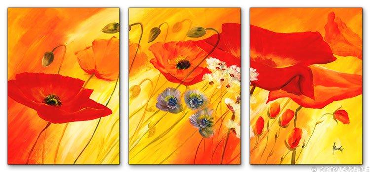 Wandbild Mia Morro FRESH FLOWERS - BLUMEN