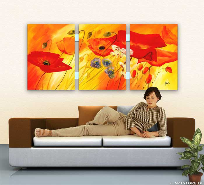 Wandbild Mia Morro FRESH FLOWERS - BLUMEN Wohnbeispiel