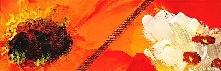 Wandbild Mia Morro FRESH FLOWERS - BLUMEN Detailausschnitt