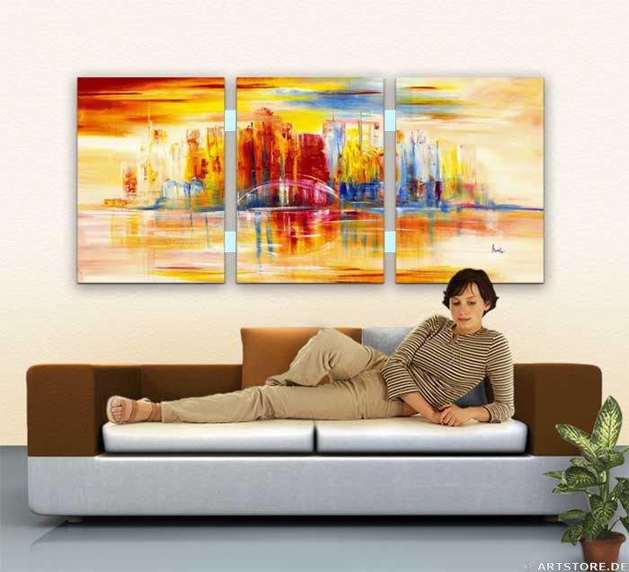 Wandbild Mia Morro NEW YORK SKYLINE - USA Wohnbeispiel