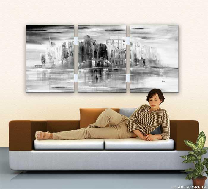 Wandbilder mia morro new york skyline usa for Glasbilder modern art