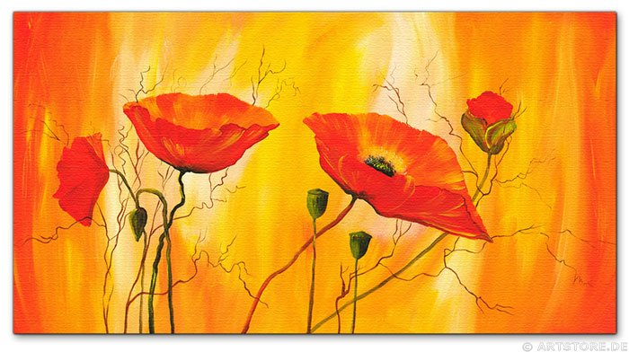 Wandbild Mia Morro FRESH POPPY - FLOWERS