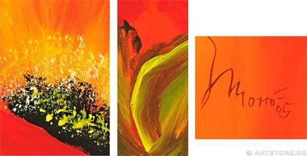 Wandbild Mia Morro FRESH POPPY - FLOWERS Detailausschnitt