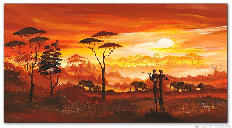 Wandbilder mia morro africa my love kunstdrucke leinwand keilrahmen - Elefanten bilder auf leinwand ...