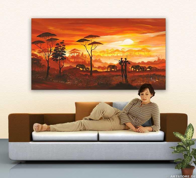 Wandbild Mia Morro AFRICA MY LOVE Wohnbeispiel