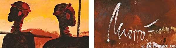 Wandbild Mia Morro AFRICA MY LOVE Detailausschnitt