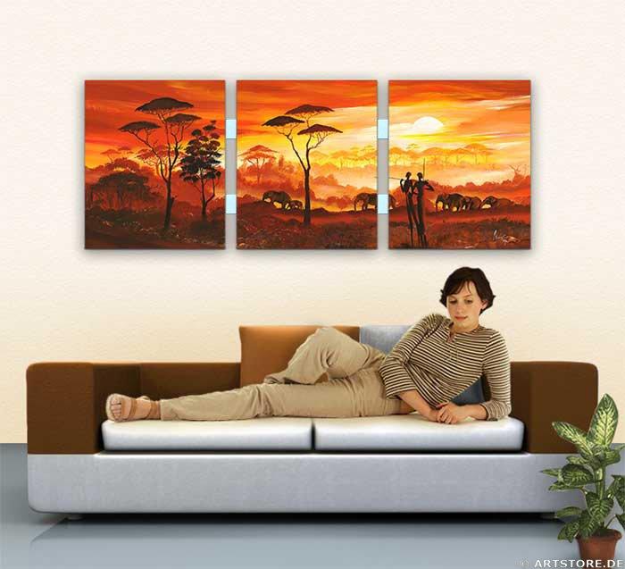 Wandbild Mia Morro AFRICA MY LOVE - EDITION Wohnbeispiel