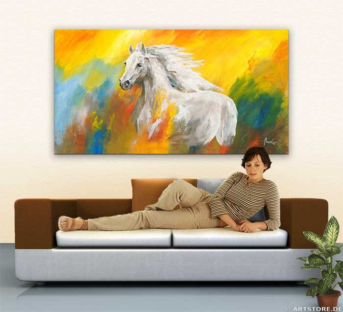 Wandbild Mia Morro WILD HORSE Wohnbeispiel