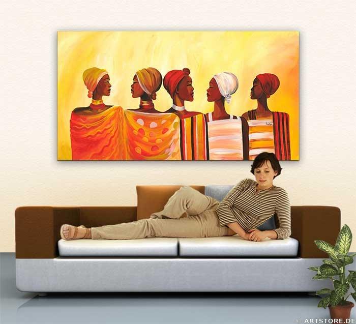 Wandbild Mia Morro MASSAI MEETING Wohnbeispiel