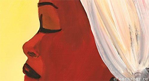 Wandbild Mia Morro MASSAI MEETING Detailausschnitt