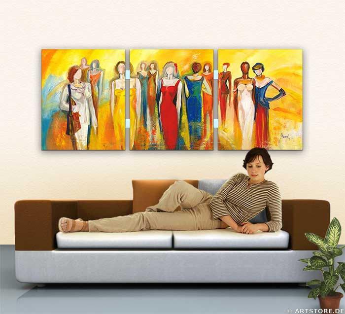 Wandbild Mia Morro FASHION MEETING - EDITION Wohnbeispiel