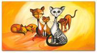 Wandbilder Mia Morro FASHION CATS