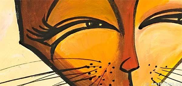 Wandbild Mia Morro FASHION CATS Detailausschnitt