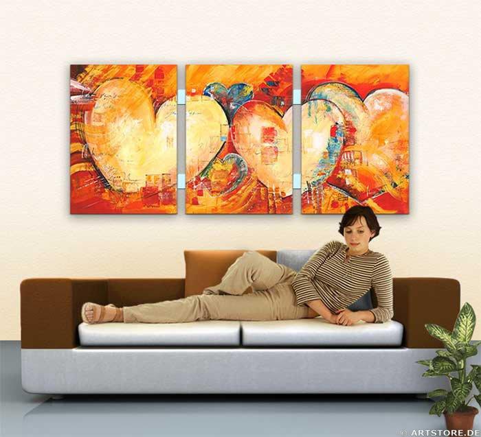 Wandbild Mia Morro ENJOY LOVE - EDITION Wohnbeispiel