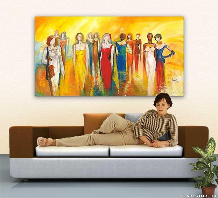Wandbild Mia Morro FASHION MEETING Wohnbeispiel