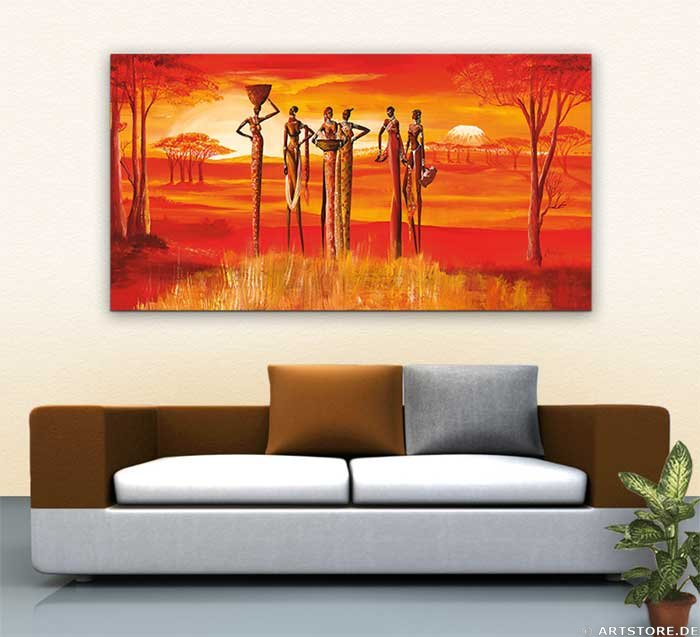 Wandbild Mia Morro BEAUTIFUL MASSAI Wohnbeispiel