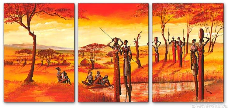 Wandbild Mia Morro MASSAI AFRIKA - Edition