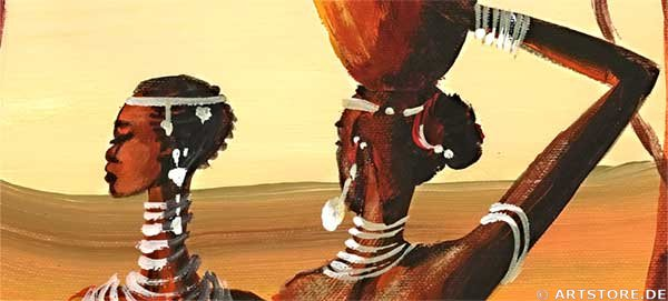 Wandbild Mia Morro MASSAI AFRIKA - Edition Detailausschnitt