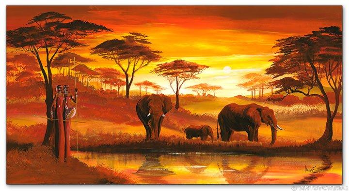 Wandbild Mia Morro GOLDEN AFRICA
