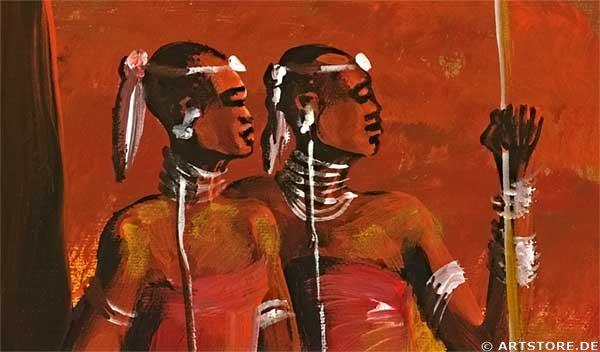Wandbild Mia Morro GOLDEN AFRICA Detailausschnitt