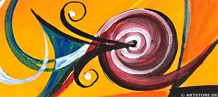 Wandbild Mia Morro INTENSE OF LIVE Detailausschnitt