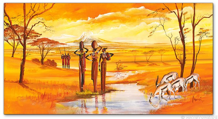 Wandbild Mia Morro MASSAI WILDLIFE - FLOWERS