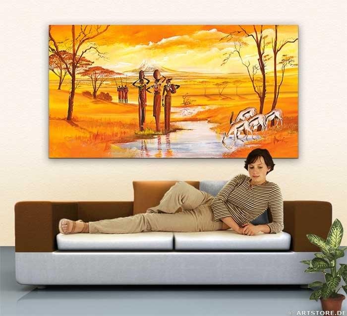 Wandbild Mia Morro MASSAI WILDLIFE - FLOWERS Wohnbeispiel