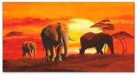 Wandbilder Mia Morro ELEPHANT FAMILY