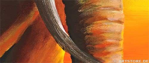 Wandbild Mia Morro ELEPHANT FAMILY Detailausschnitt