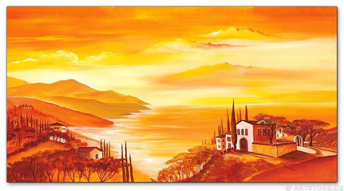 Wandbilder mia morro mediterran kunstdrucke leinwand - Mediterrane wandbilder ...
