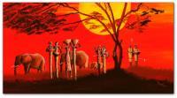 Wandbilder Mia Morro SUNSET IN AFRICA