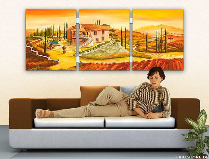 Wandbild Mia Morro VILLA PANORAMIC - EDITION Wohnbeispiel