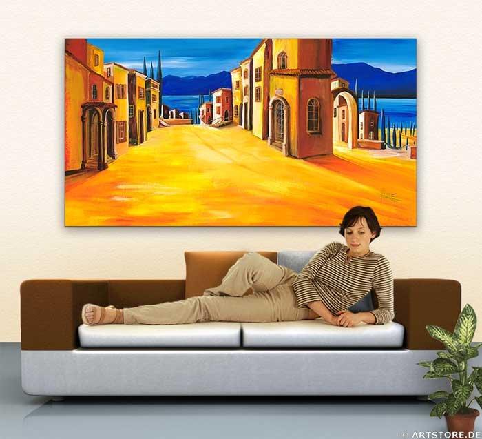Wandbild Mia Morro MEDITERRAN VILLAGE Wohnbeispiel