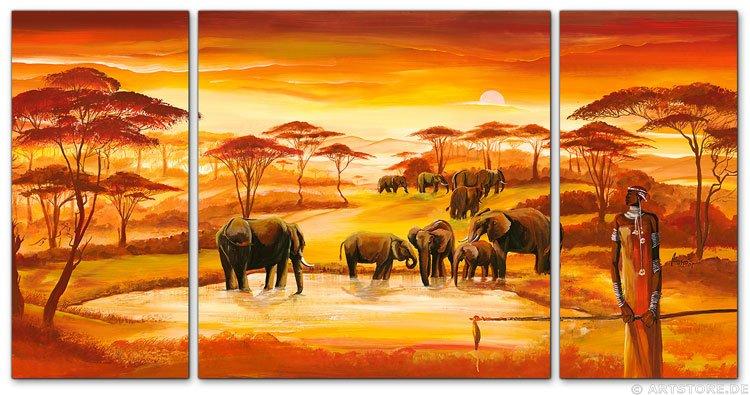 Wandbild Mia Morro AFRICAN WILDLIFE - EDITION