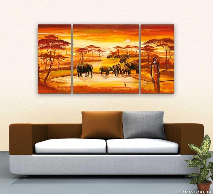 Wandbild Mia Morro AFRICAN WILDLIFE - EDITION Wohnbeispiel