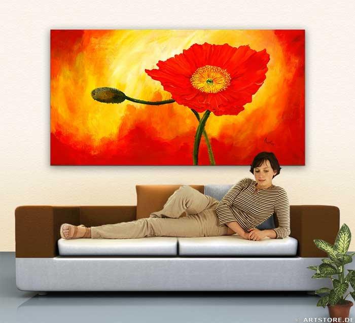 Wandbild Mia Morro BEAUTIFUL FLOWER Wohnbeispiel