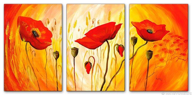 Wandbild Mia Morro SUNNY POPPYS - EDITION