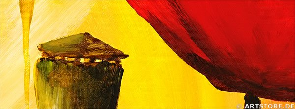 Wandbild Mia Morro SUNNY POPPYS - EDITION Detailausschnitt