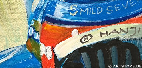 Wandbild Mia Morro FORMULA ONE - WINNER Detailausschnitt
